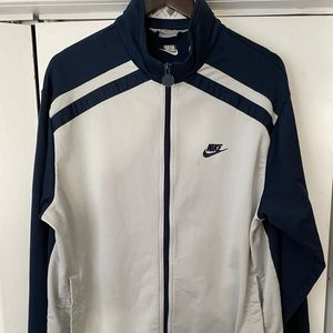 Vintage Nike Zip Track Jacket Gray Tag Men Large